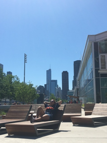 Just relaxing at Navy Pier.